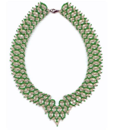 seed bead netting patterns pattern seed beaded necklace detailed beading