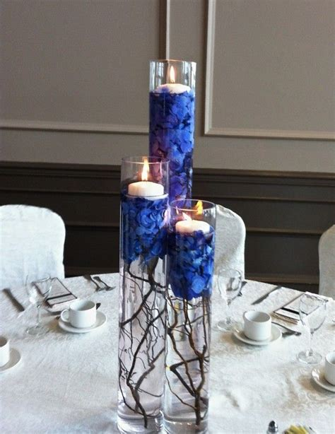 blue centerpieces pin by my flower affair on blue wedding flowers