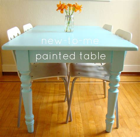the kitchen table and chairs paint