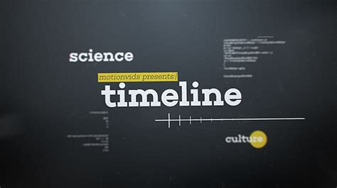 After Effects Timeline Template abstract 3d timeline by motionvids videohive