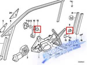 window regulator repair kit bmw e34 e36 318i 520i 525i