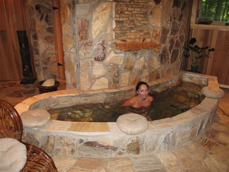 sauna bathtub landscape stone sauna design us stone hot tub