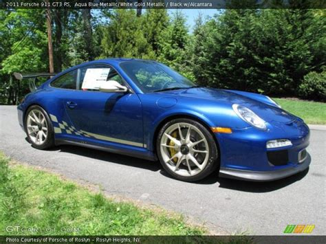 gold porsche gt3 2011 911 gt3 rs aqua blue metallic white gold metallic