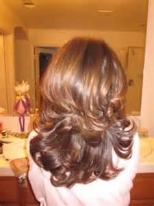 Caramel highlights on medium brown hair with layered cut yelp