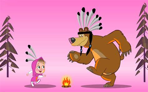 wallpaper animasi masha and the bear masha and the bear dance wallpapers 1680x1050 279337