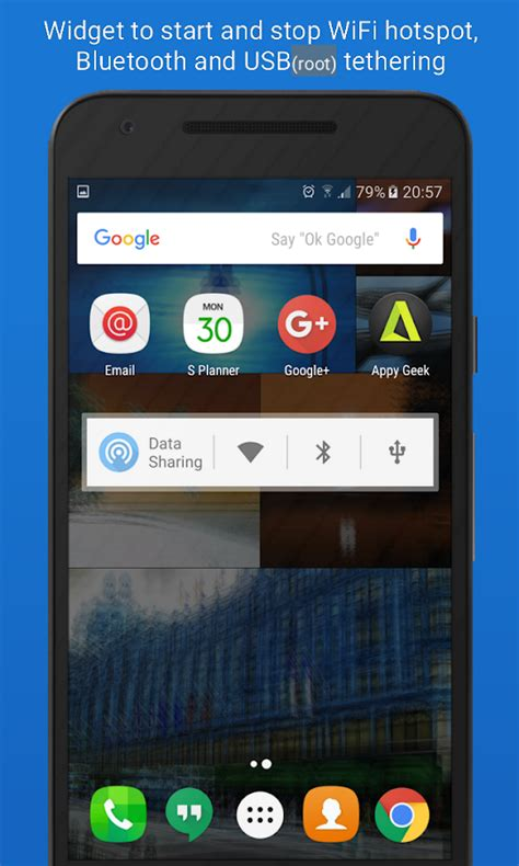 data tethering android apps on play