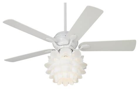 52 quot casa optima flower light kit white ceiling fan