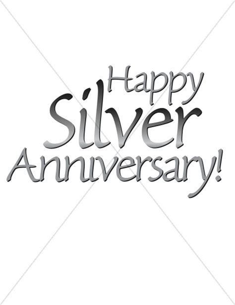 Happy Silver Anniversary words   Christian Anniversary Clipart