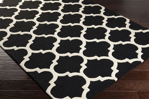 Black Modern Rugs Modern Black And White Area Rug Patterned Area Rug
