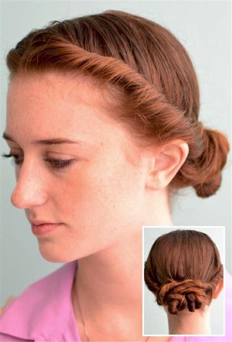 hair twisted around front of head bun 5 ways to rock wet hair to work