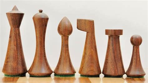 mid century modern chess set reproduced modern mid century minimalist hermann ohme wooden weighted chess set ebay