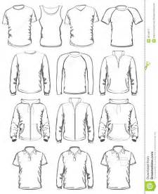 collection of men clothes outline templates royalty free