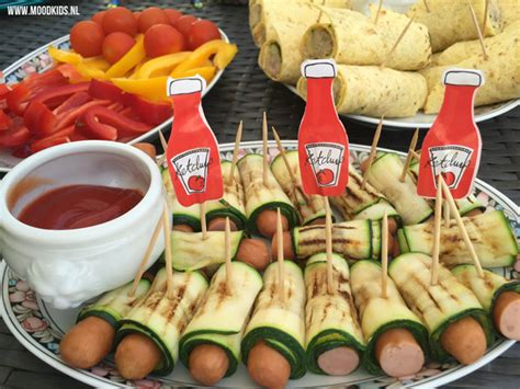 Nagellak Spelletjes Maken by Groene Zebraworstjes Snack Courgette Knakworst Moodkids
