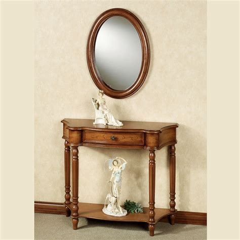 manor console table and mirror set