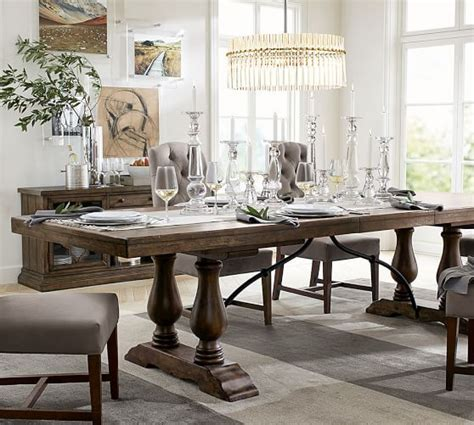 pottery barn dining room lorraine extending dining table pottery barn fairacres