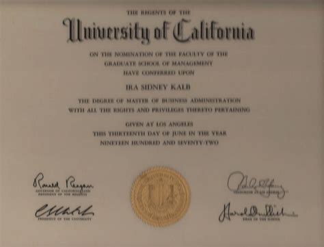 Of Southern California 5 Year Engineeribng And Mba Degree by Ira S Kalb Assistant Professor Of Clinical Marketing