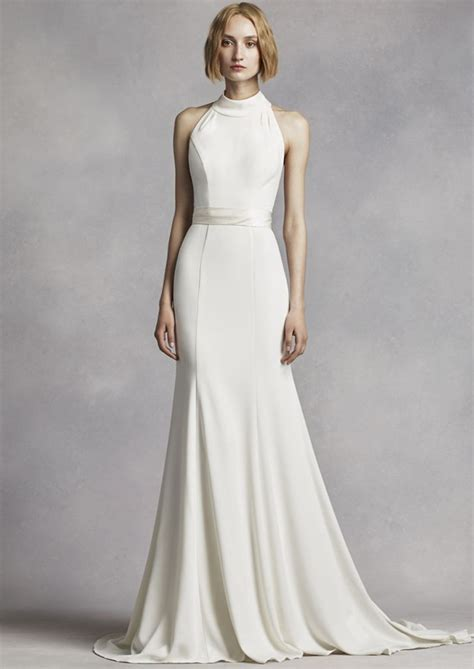 High Designer Wedding Dresses by Keep Up With The Kardashians With A High Neck Wedding