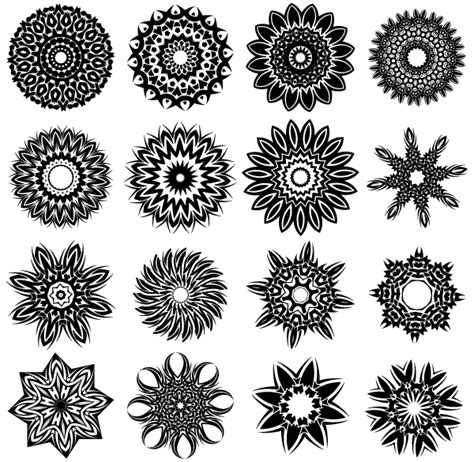 floral tribal tattoo designs vector tribal flower designs free vector
