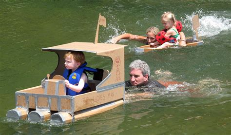 boat using cardboard cardboard boater what s next at acbs shows tune in