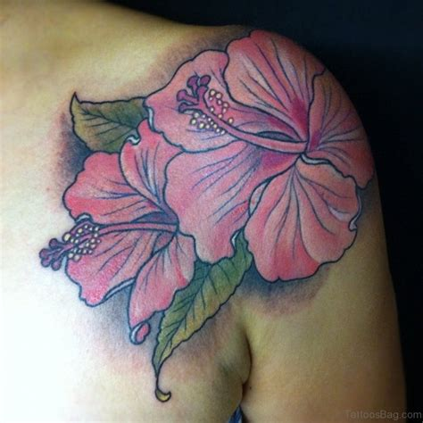 hibiscus tattoo on shoulder 43 hibiscus shoulder tattoo designs