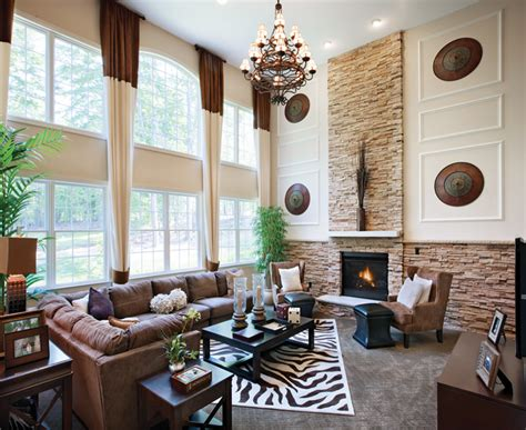 decorating with high ceilings family room westridge estates of canton the hopewell home design
