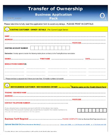 business transfer letter template word