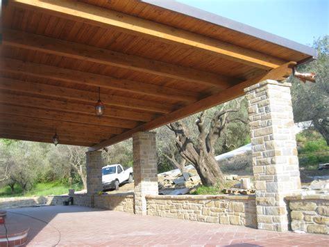 tettoie di legno tettoia in legno 1 pino costruzioni srls