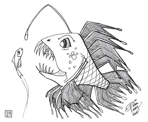 scary fish coloring pages cool fish drawings www pixshark com images galleries