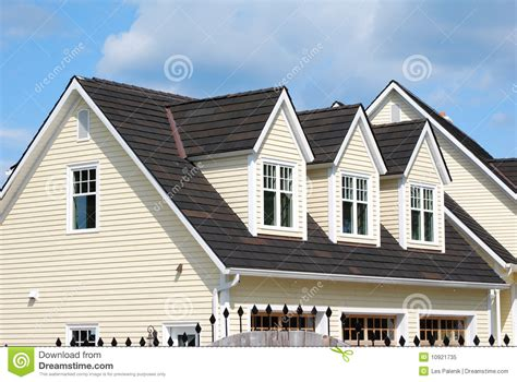 homes with dormers house with 3 dormers royalty free stock photo image