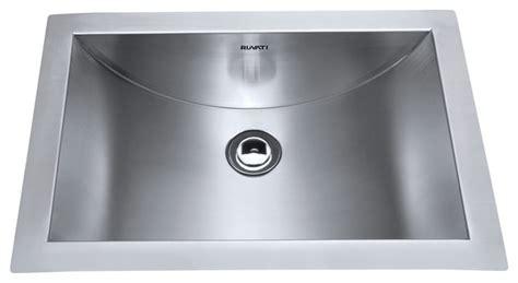 stainless steel undermount bathroom sink ruvati rvh6110 brushed stainless steel bathroom sink