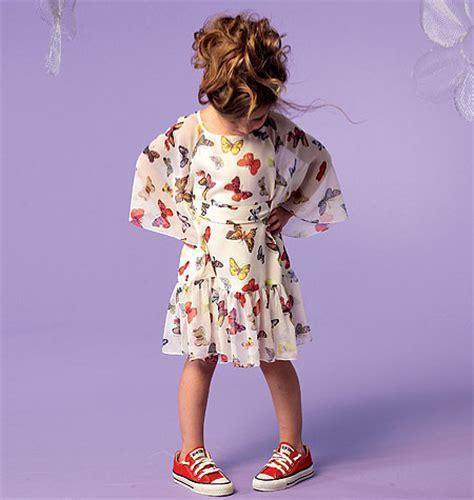 Mccall Butterfly Sleeve Dress butterfly sleeve flower dress mccall s m6690