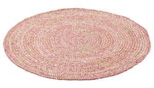 teppich rosa rund kidsdepot kinderteppich jute natur rosa rund 216 110cm bei