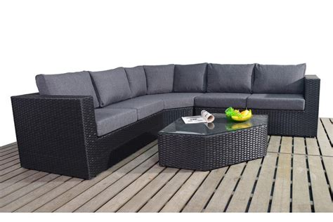 black wicker sofa prestige black rattan angle corner sofa set homegenies