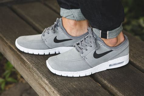 nike sb stefan janoski max leather cool grey sneaker bar