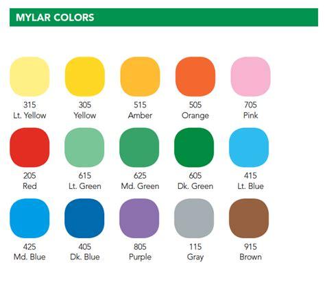 color company colour mylar colors the leslie company