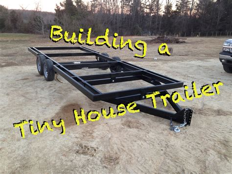 Free Tiny House Blueprints by How To Build A Tiny House Trailer From Scratch Youtube