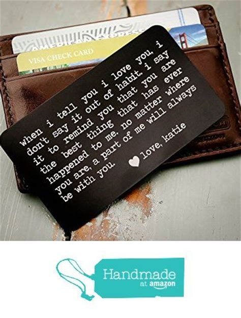 personalized valentines gifts for boyfriend custom engraved wallet insert personalized wallet card