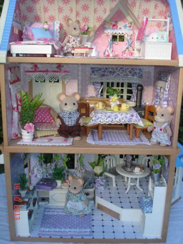 sylvanian families dolls house 17 best images about miniaturas on pinterest felt toys vintage dollhouse and baby items
