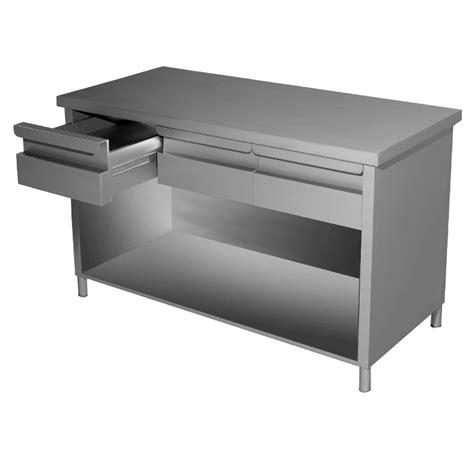 tavolo con cassetti tavolo inox professionale a giorno con cassetti