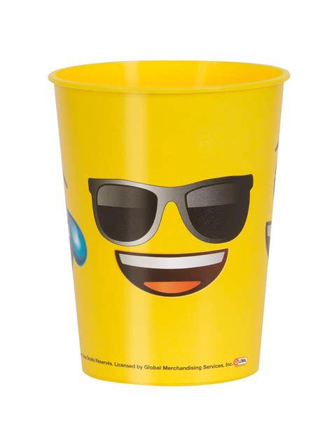 bicchieri di plastica bicchiere di plastica emoji con occhiali da sole