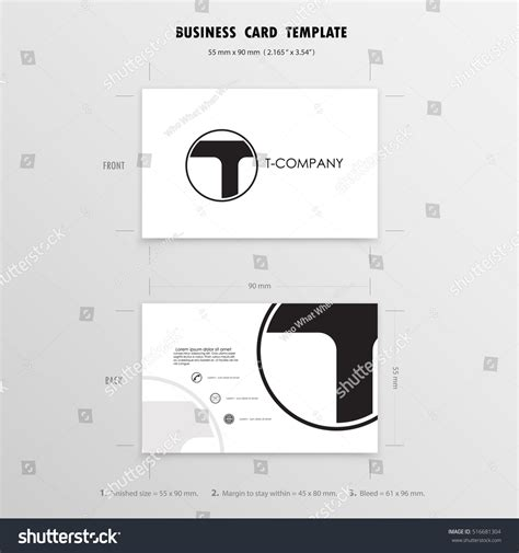 business name template business name card templatevector illustration stock