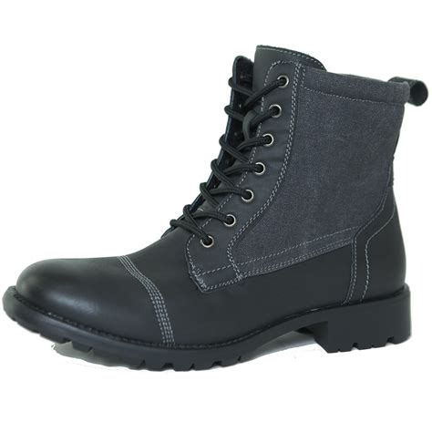 Bordy Army Shoes alpine swiss s combat boots lug sole rugged canvas