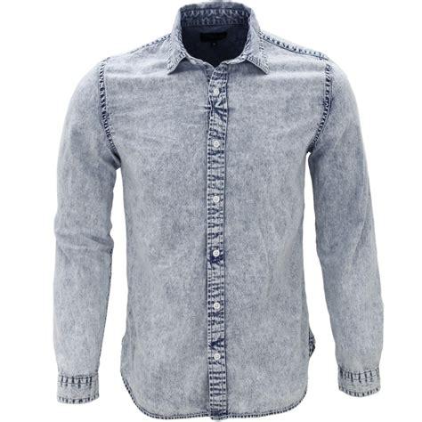 Denim Washed Shirt soft indigo heavy washed denim shirt 183 shirtacy