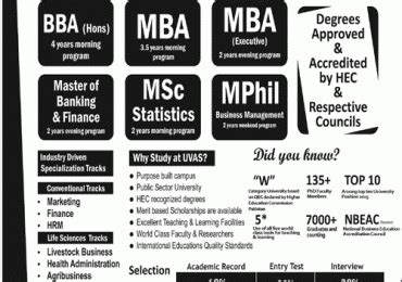 Mba Programs For Veterinarians by Of Veterinary Uvas Bba Mba Admission 2017