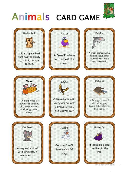 printable halloween board game esl animals card game worksheet free esl printable