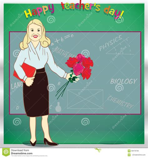 happy teachers day card template happy day template for card illustration stock