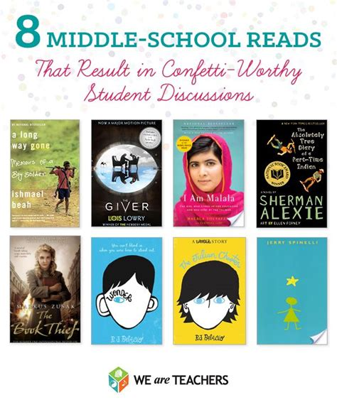picture books middle school middle school reads that result in confetti worthy student