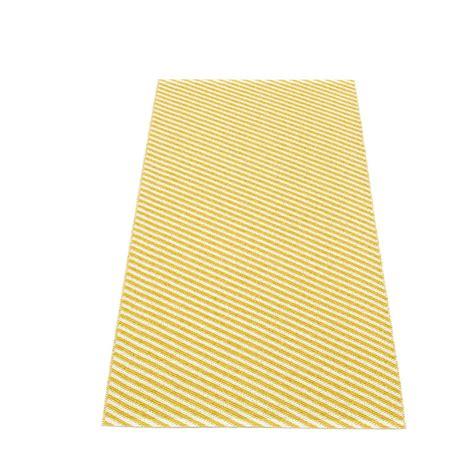 Teppich Aus Kunststoff 70 X 150 Cm Mustard Pappelina Will