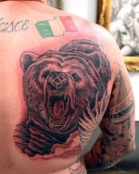 back tattoo bear 254 best black and grey tattoos images on pinterest