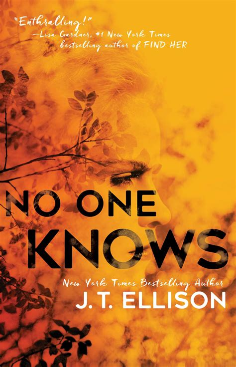 the book of no one no one knows book by j t ellison official publisher